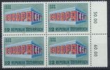 AT 1291 postfrisch Viererblock mit Bogenrand rechts