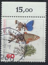 BRD 1087 gestempelt mit Bogenrand oben (RWZ 15,00)
