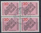 BRD 428  gestempelt Viererblock