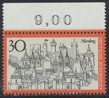 BRD 678 postfrisch mit Bogenrand oben (RWZ 9,00)