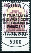 1679 gestempelt mit Bogenrand unten (BRD)