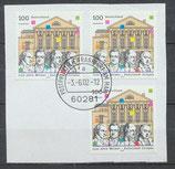 BRD 2028 (3x) gestempelt Briefstück  (1)