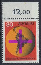 BRD 545 postfrisch mit Bogenrand oben