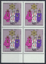 BRD 1196 postfrisch Viererblock mit Bogenrand unten