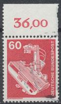 990 gestempelt mit Bogenrand oben (RWZ 36,00) (BRD)