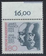 BRD 1147 postfrisch mit Bogenrand oben