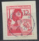 DR 645 gestempelt auf Briefstück