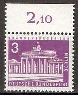 231 postffrisch mit Oberrand (RWZ 2,10) (BERL)