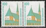 1406 postfrisch waagrechtes Paar (BRD)