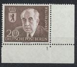 BERL 115 postfrisch mit Eckrand rechts unten