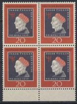 BRD 307 postfrisch Viererblock mit Bogenrand unten
