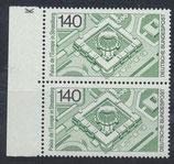 BRD 921 postfrisch senkrechtes Paar mit Bogenrand links