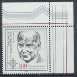 BRD 1835 postfrisch mit Eckrand rechts oben