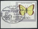 BRD 1518 gestempelt auf Briefstück