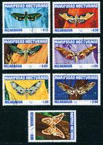 2376-2382 gestempelt (NI-Schmetterlinge)