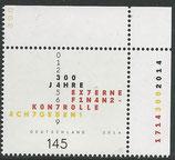 BRD 3106 postfrisch mit Eckrand rechts oben
