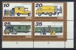 DDR 2299-2302 postfrisch Viererblock mit Eckrand rechts unten