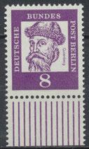 201 postfrisch Bogenrand unten (BERL)