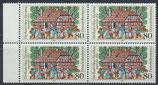 BRD 1186 postfrisch Viererblock mit Bogenrand links