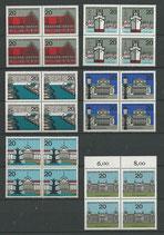 BRD 416-427 postfrisch Viererblocksatz