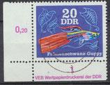 2178 gestempelt Eckrand link unten (DDR)
