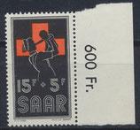 SAAR 360 postfrisch mit Bogenrand rechts