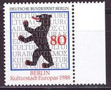 BERL 800 postfrisch mit Bogenrand rechts