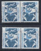 BRD 1347 C/D gestempelt waagrechte Paare