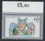 BRD 1456 postfrisch mit Bogenrand oben