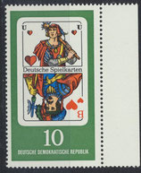 DDR 1299  postfrisch mit Bogenrand rechts