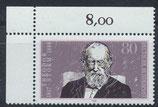 BRD 1371 postfrisch mit Eckrand links oben