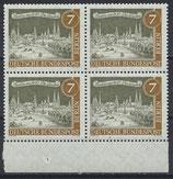 BERL 218 postfrisch Viererblock mit Bogenrand unten