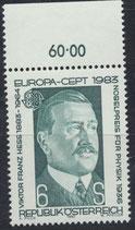 AT 1743 postfrisch mit Bogenrand oben (RWZ 60,00)
