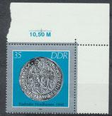 DDR 3041 postfrisch mit Eckrand rechts oben