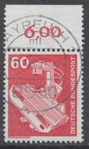 990 gestempelt mit Bogenrand oben (RWZ 6,00) (BRD)