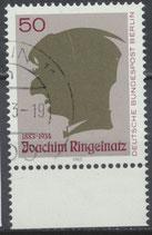 BERL 701 gestempelt mit Bogenrand unten