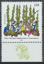 1999 postfrisch Bogenrand unten (BRD)