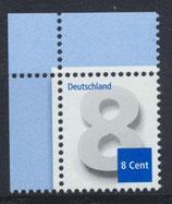 BRD 3188 postfrisch mit Eckrand links oben
