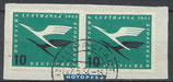 BRD  206 (2x) gestempelt auf Briefstück