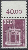 BERL 506 postfrisch Bogenrand oben (RWZ 40,00)