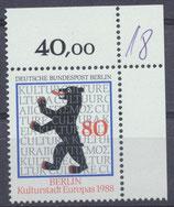BERL 800 postfrisch Eckrand rechts oben (40,00)