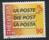 CH 1637 gestempelt