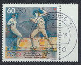 BRD 1592 gestempelt mit Bogenrand rechts