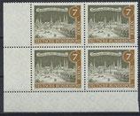 BERL 218 postfrisch Viererblock mit Eckrand links unten