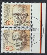 BRD 1158-1162 gestempelt senkrechtes Paar mit Blockrand rechts (a)