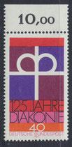 BRD 810 postfrisch mit Bogenrand oben