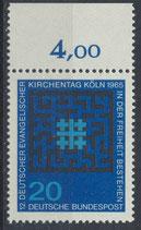 BRD 480 postfrisch mit Bogenrand oben