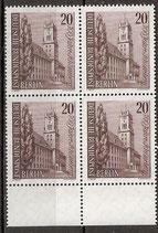 233 postfrisch Viererblock mit Bogenrand unten (BERL)