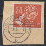 DDR 275 gestempelt auf Briefstück