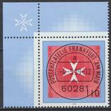BRD 2047 gestempelt mit Bogenrand links oben